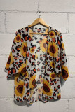 Sunflower Print Sunscreen Blouse Cover up