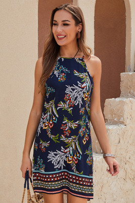 Floral Printed Sleeveless Slip Dress
