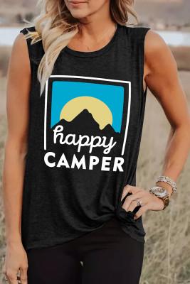 Happy Camper Printed Tank Top