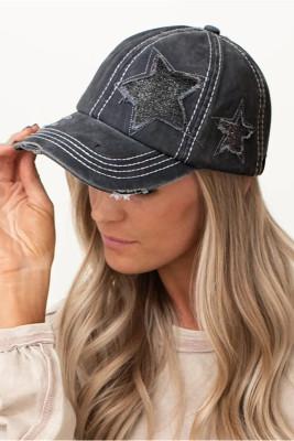 Star Washed Baseballl Cap