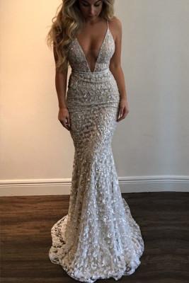 Lace V-Neck Sexy Sling Dress