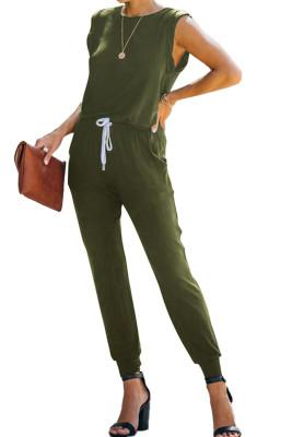 Sleeveless O-Neck Backless Jumpsuit