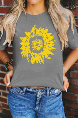 Sunflower O-Neck Graphic Tee