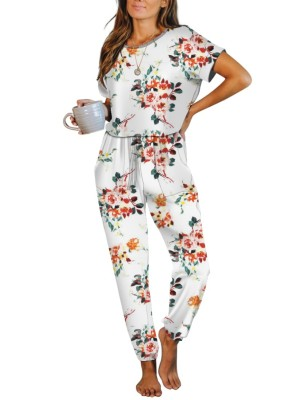 Floral Tie Dye One Piece Jumpsuit