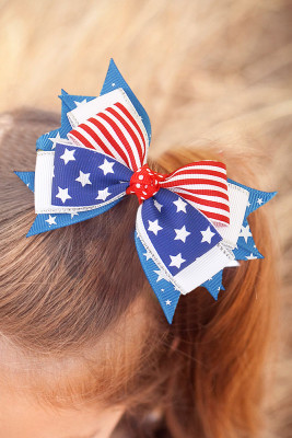 American Flag Bowknot Children's Hairpin