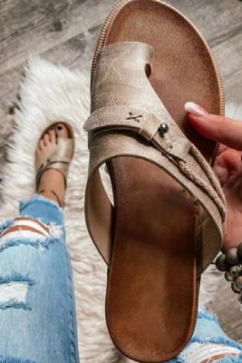 Woman Casual Flat Flops Sandals