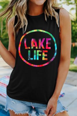 Colorful Lake Life Printed Tank Top Unishe Wholesale