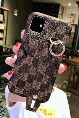 Plaid Print iPhone Phone Case with Wristband Unishe Wholesale
