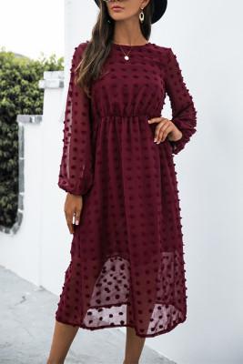 Pom Pom Textured Long Sleeve Dress Women UNISHE Wholesale