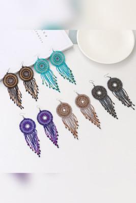 Boho Colorful Beads Tassel Earrings Necklace Unishe Wholesale