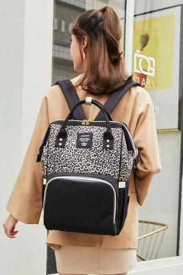 Leopard Print Mommy Bag Backpack Unishe Wholesale