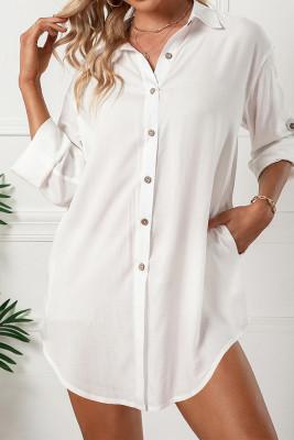 Turn Down Collar Single-Breasted Shirt Dress Women UNISHE Wholesale