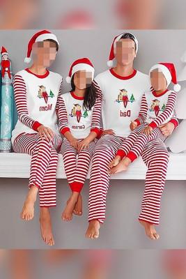 Family Matching Chrismas Print Long Sleeve Tops&Pants Loungewear Unishe Wholesale