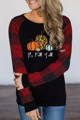 Fall Yall Print Long Sleeve Top Women UNISHE Wholesale