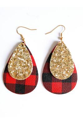 Chrismas Water Drop Shape Earrings Necklace Unishe Wholesale