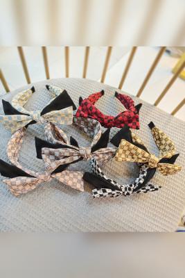 Plaid Letters Wide Headband Unishe Wholesale
