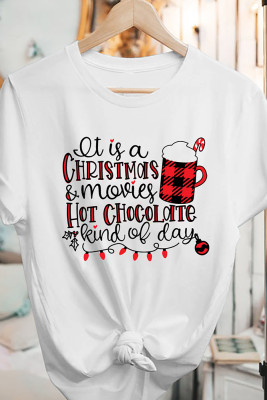 Chrismas Printed Graphic Tees for Women UNISHE Wholesale Short Sleeve T shirts Top