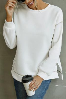 Split Side Color Thread Stitching Sweatshirts UNISHE Wholesale