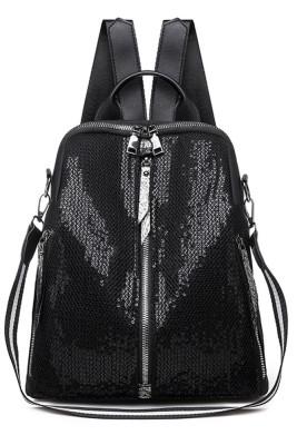 Zipper Sequins Backpack Unishe Wholesale