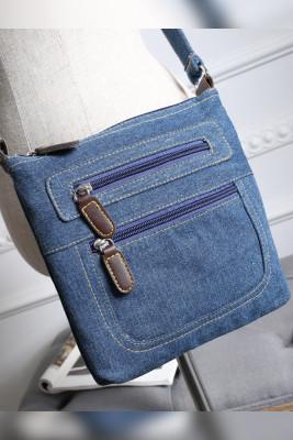 Zipper Denim Crossbody Bags Unishe Wholesale