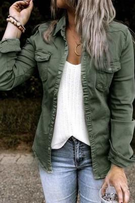 Single Breasted Pockets Denim Jacket Women UNISHE Wholesale