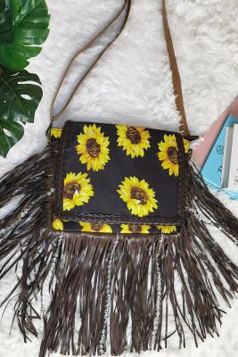 Sunflower Chessboard Leopard Print Clutch Tassel Crossbody Bags Unishe Wholesale