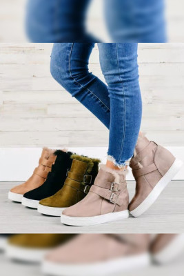 Low-top Suede Cotton Boots Unishe Wholrsale