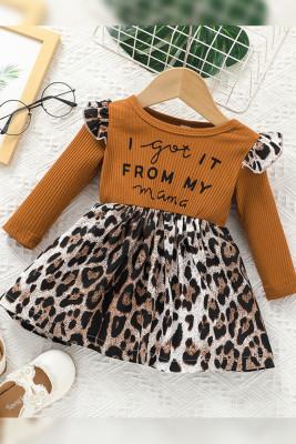 I Got It From My Mama Girls Leopard Print Dress Unishe Wholesale