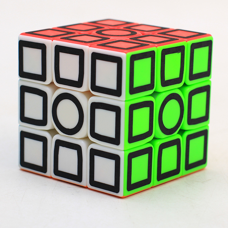 Magic cube Candy Pink 3x3x3 with Black Carbon fiber sticker Speed 3x3 Puzzle