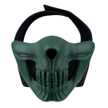 WST Skull Half Face Mask for Outdoor Wargame Cosplay - Green