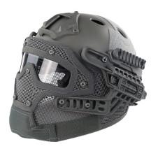 WST Steel Wire Protective FAST Helmet Suit for Outdoor Activity - Grey