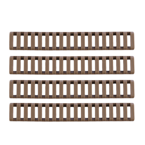 4Pcs Rubber Handguard Rails - Tan