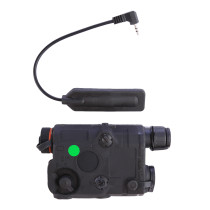 AN-PEQ-15 Upgrade Version Battery Box Green Laser + LED White Light Indicate with IR Lens for AEG GBB CQB