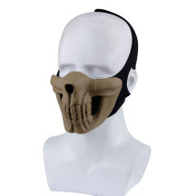 WST Skull Half Face Mask for Outdoor Wargame Cosplay - Tan