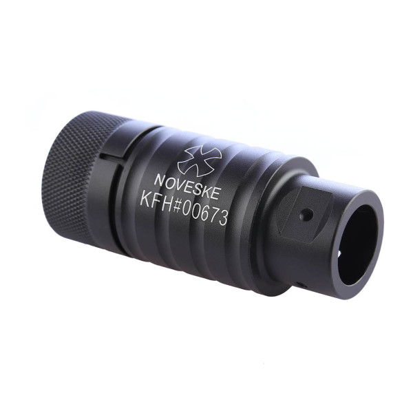 Metal Flash Hider for 19mm Outer Barrel-Spitfire Pig Pattern Lettering Type