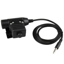 WST Headset Accessories Single Plug U94 PTT - Black