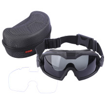 FAM Enhanced Version LPG01BK12-2R Direct Wear Style Goggles for Outdoor Activity - Black