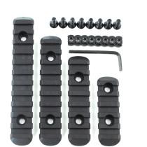 4Pcs M-LOK Nylon Rail Set for Barrel with M-LOK System - Black