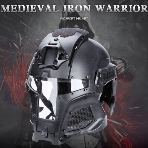 WST Medieval Iron Knight Tactics Helmet for Outdoor Activity