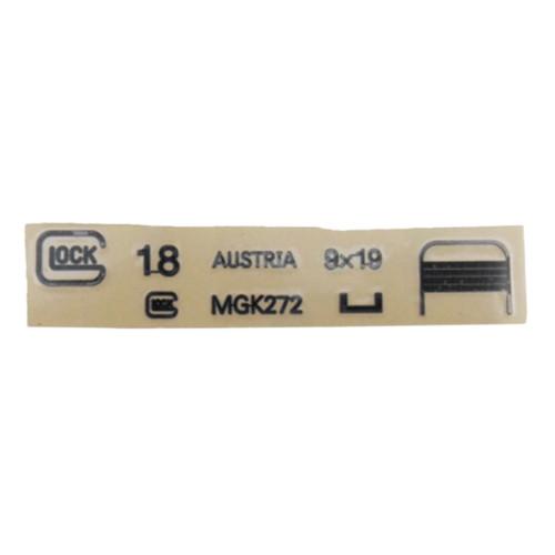 Metal Stickers Water Beads Accessories for SKD Glock G18 Blaster - Black