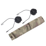 Z-TAC C2 Earphone Bracket with Camouflage Cloth for FAST Helmet - Black