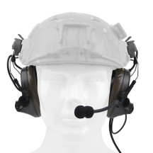 Z-TAC Comtac II Earphone + Helmet Bracket - Greyish-green