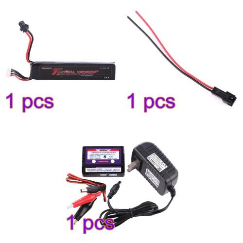 Bopslipo Li-on Battery Zhongshun Recharger SM 2P Forward Direction Plug Wire Kit for Nerf