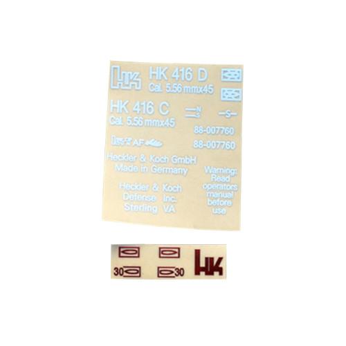 Metal Sticker for HK416 Receiver