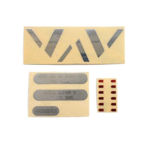 LH Vector Gen.2 Water Gel Beads Blaster Body Silver V + Silver Numbering + Speed Machine Metal Sticker