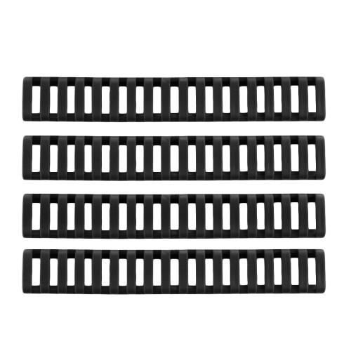 4Pcs Rubber Handguard Rails - Black