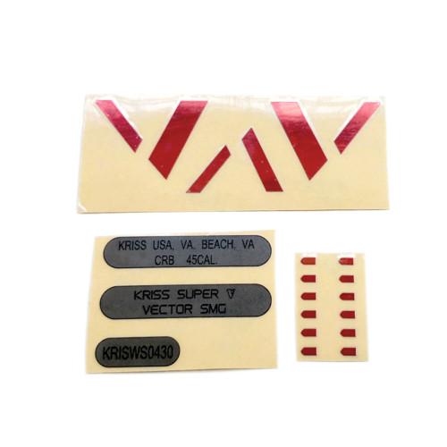 LH Vector Gen.2 Water Gel Beads Blaster Body Red V + Black Numbering + Speed Machine Metal Sticker