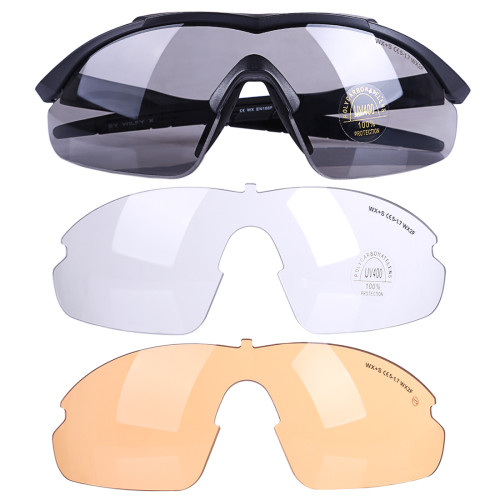 511 Tactical PC Goggles Eyes Protector with ANSI Z87.1/ANSI Z80.3 Certification - Black