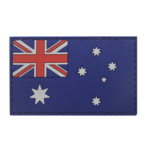 AOTDDOR 5cm×8cm PVC Australian Flag Backpack Clothes Decoration Hook Patch