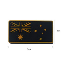 AOTDDOR 5cm×8cm PVC Australian Flag Embroidery Backpack Clothes Decoration Hook Patch - Yellow